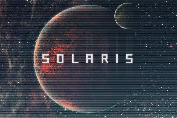Solaris Futuristic Font Display Fonts Creative Market