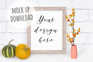 Fall Frame Mockup Photograph