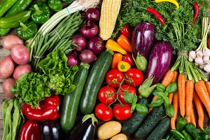 Colorful vegetables background.