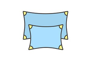 Pillows color icon