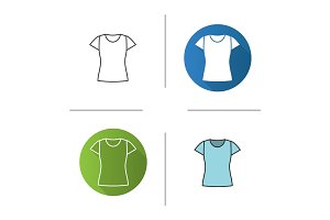 Women's t-shirt icon