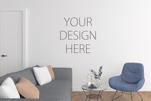 Interior mockup - wall art display