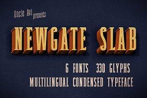Newgate Slab - Retro Font