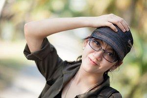 portrait cute thailand woman.