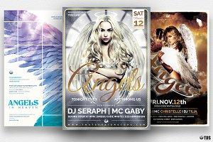 Angels Party Flyer Bundle