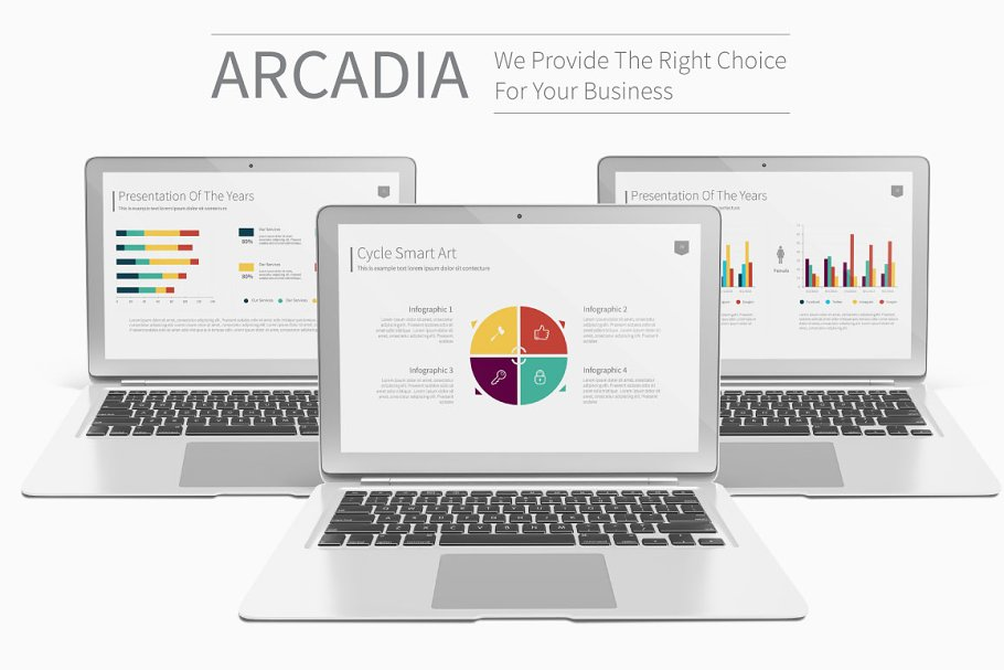 Arcadia Presentation Template ~ PowerPoint Templates ~ Creative Market