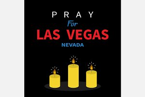 Pray for Las Vegas. Candles.