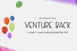 VENTURE BACK - one elegant font