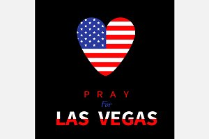 Pray for Las Vegas. Heart flag.