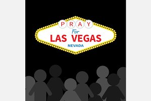 Pray for LV. People silhouette Sign