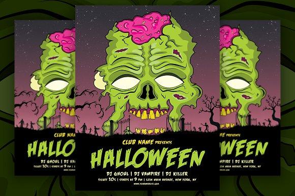 vintage halloween flyer poster flyer templates creative market