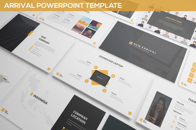 Arrival powerpoint template presentation templates creative market toneelgroepblik Image collections