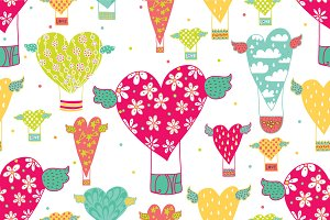 Valentine's Day.Pattern,cards & set.