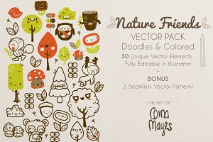 Nature Friends Vector Pack