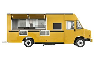Food car open doors, side view