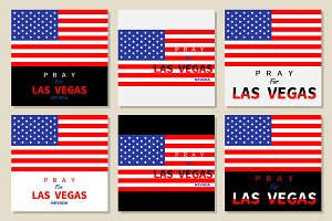 American flag Pray for Las Vegas set