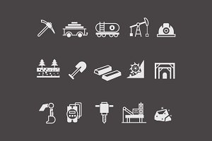 15 Mining and Coal Icons