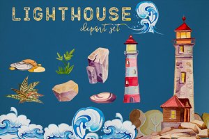 Ligthouse Clipart Set