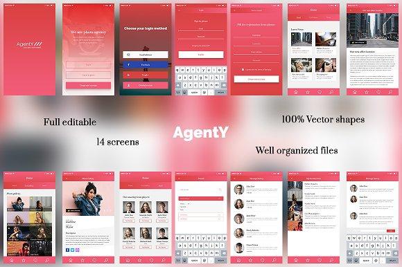 AgentY Mobile UI UX Application