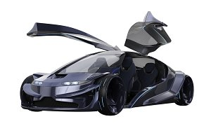 Car concept electric transport