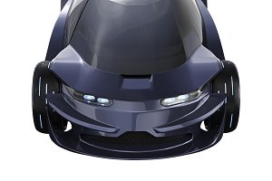 Car concept purple auto, close view
