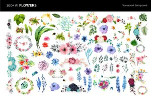 100+ Vector Flowers