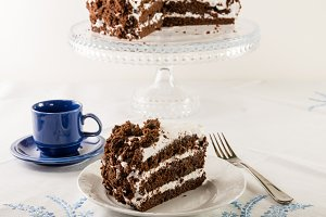 Chocolate layer cake with icing