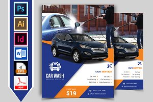 Car Wash Flyer Template Vol-01