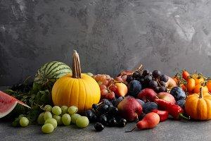 Seasonal fruits and vegetables