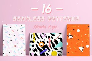 16 PATTERNS | Geometric style set