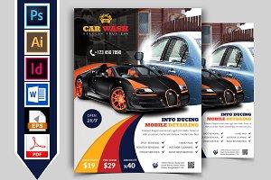 Car Wash Flyer Template Vol-03