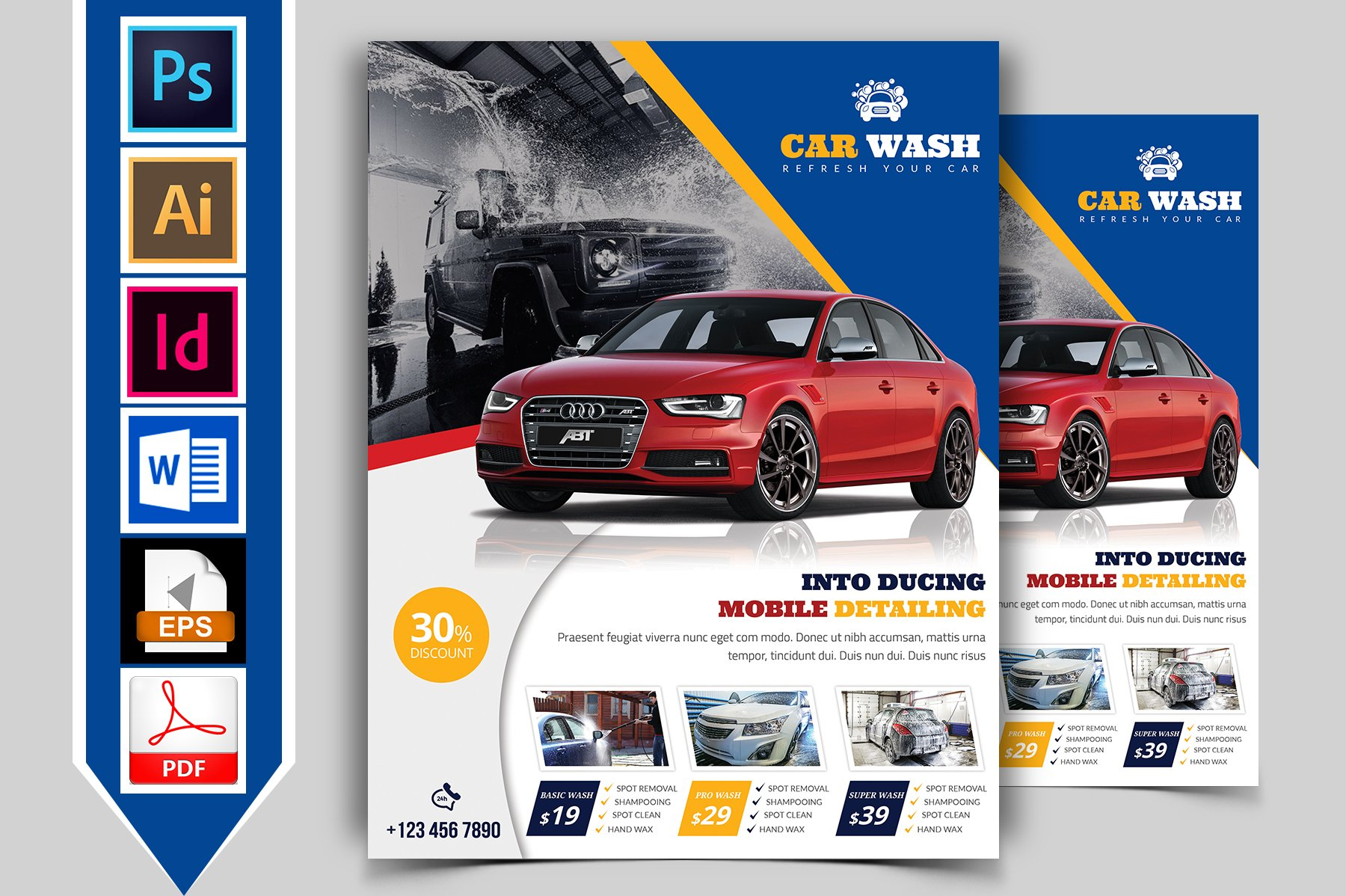 Car Wash Flyer Template Vol 04 Flyer Templates Creative Market