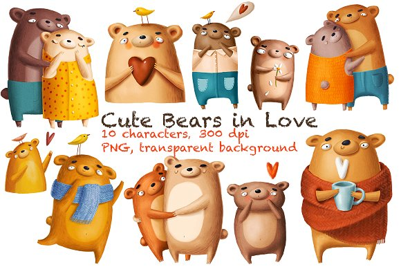 Bears in love-Graphicriver中文最全的素材分享平台