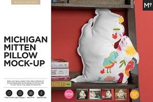 Michigan Mitten Pillow Mock-up