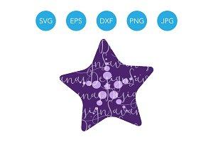 Starfish SVG Sea Star Vector Clipart