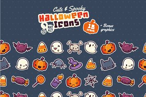 Cute & Spooky Halloween Icons