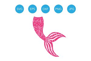 Mermaid Tail SVG Mermaid Clipart PNG