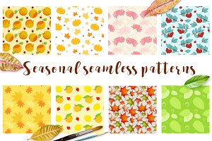 Seasonal seamless patterns