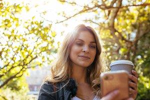 Woman clicking a selfie