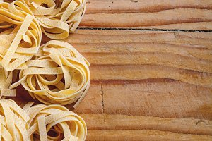 Dry pasta tagliatelle