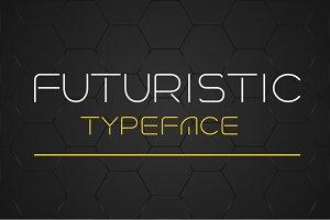 Futuristic linear style typeface.