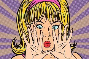 pop art blonde Pop art retro