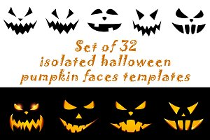 Halloween pumpkin face patterns
