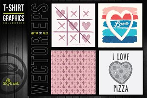 Girl vectors graphics for tee shirt