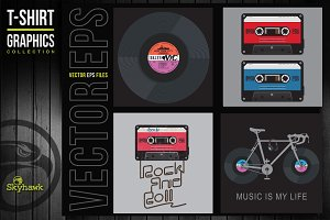 Vectors graphics music for tee shirt
