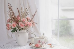 Autumn Tea and Roses