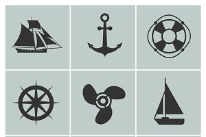 Marine and shipping icons
