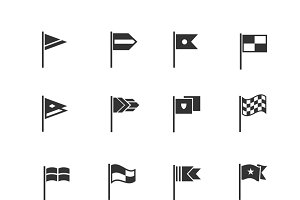 Flags pictograms