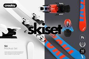 Ski Mockup Set
