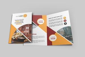 Fast Food Bi-Fold Brochure